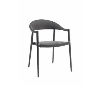 Gescova Matteo stoel - houtskool/donkergrijs alu / textileen
