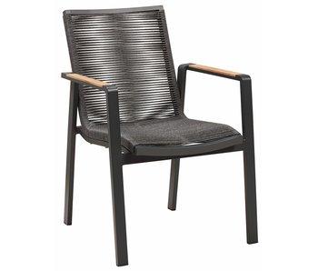 Gescova Moreno stoel - houtskool/zwart