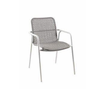 Gescova Diego stoel - wit/lichtgrijs