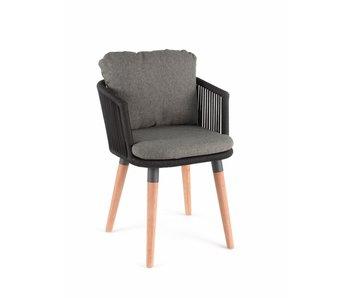 Gescova Amalfi stoel - houtskool/antraciet