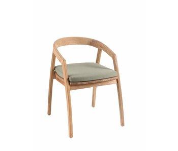 Gescova Chaise et coussin design Jakarta - vert