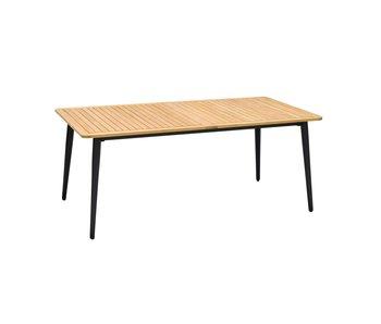 Gescova JERRICA tafel 185x100 alu teak top
