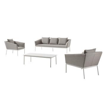 Gescova Tomassi lounge set wit/lichtgrijs