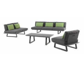 Gescova Baresi lounge set - houtskool/ grijs
