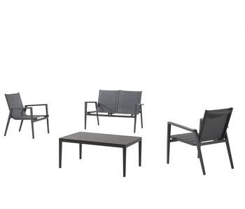 Gescova Kona lounge set - houtskool /grijs