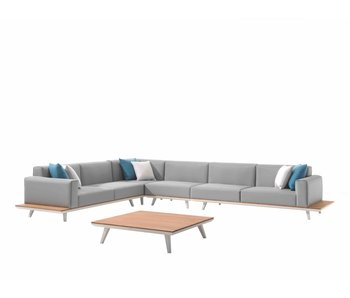 Gescova Mauro lounge set - wit/grijs