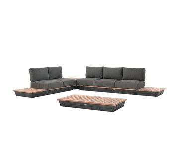 Gescova Pescara lounge set - donkergrijs