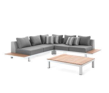 Gescova Hawai lounge set - wit/grijs