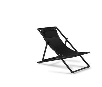 Gescova Las Palmas strandstoel - houtskool /zwart