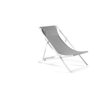 Gescova Las Palmas strandstoel -wit /lichtgrijs