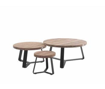 Gescova Margarite koffietafel - houtskoolgrijs - 100cm