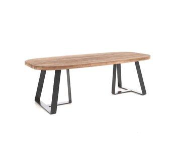 Gescova Margarite tafel 250x110 staal /teak (York)