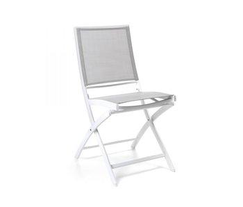 Gescova Chaise pliante Cassis - blanc / gris clair