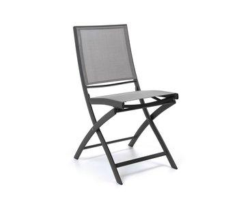 Gescova Cassis folding chair - houtskool/zilvergrijs