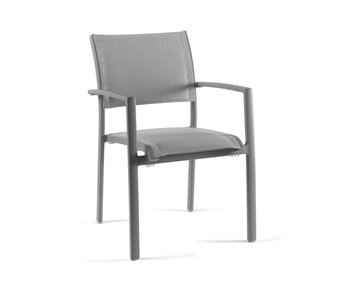Gescova Nice armchair - houtskool/donkergrijs
