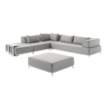 Gescova Avenatti lounge set -wit/ lichtgrijs