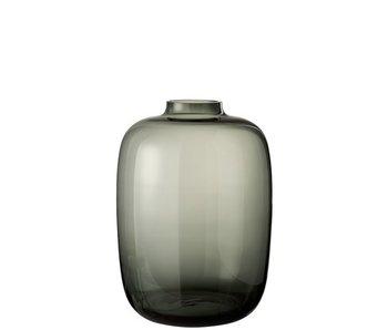 J-Line Vaas Cleo Glas Grijs Large