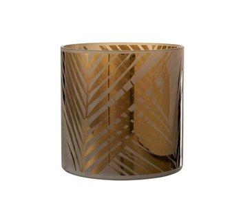 J-Line Windlicht Safari Glas Beige X-Large