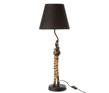 J-Line Lamp Afrikaanse Vrouw Zebra Poly