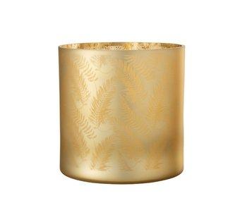 J-Line Windlicht Blad Glas Goud X-Large