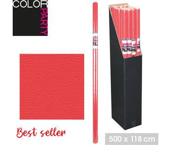 Papier de table 5m x 1,20m - rouge