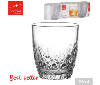 Dedalo - Whiskyglas 26 cl set / 3