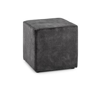 Poef Katja dark grey 40x40x40