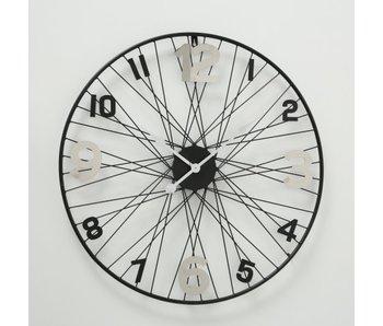 Horloge murale Spike acier inoxydable noir 70cm - acier