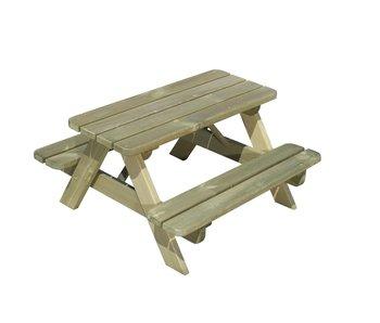 Banc de pique-nique pour enfants en bois 90 * 90 * 45cm