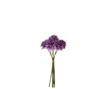 J-Line Bouquet Boule Maman Plastique Violet Foncé