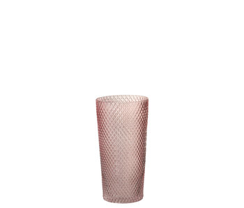 J-Line Vaas Recht Hoog Glas Roze Large