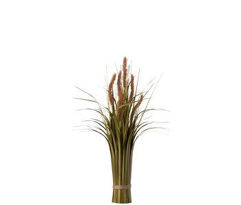 J-Line Bundel Gras+Staart Plastiek Groen/Bruin Small