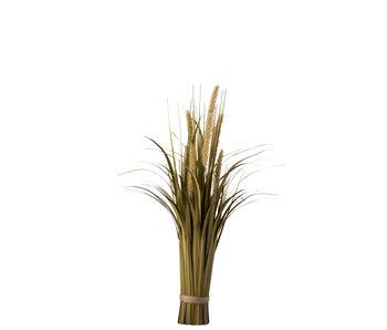 J-Line Bundel Gras+Staart Plastiek Groen/Beige Small