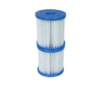 Bestway Cartouches filtrantes - Filtre de piscine Type II - 2 pièces ( Diam. 10.6cm )