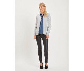 VILA Viril L/S knit cardigan - light grey - XL