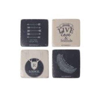 Riverdale Coaster live wh/blue g/4 10cm