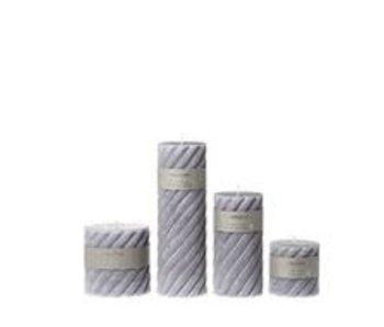 Riverdale Candle swirl cool grey 7.5x7.5cm