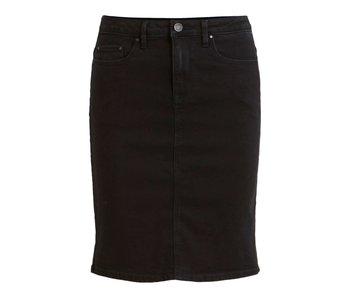 VILA Vicommit felicia short skirt - black washed - small