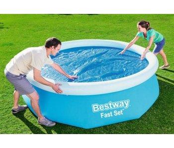 Bestway Couverture de piscine solaire - pour piscines de Ø 305 cm - Isolant thermique