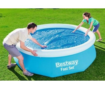Bestway Solar Zwembadafdekking - voor Zwembaden van Ø 305 cm - Warmte-Isolerend