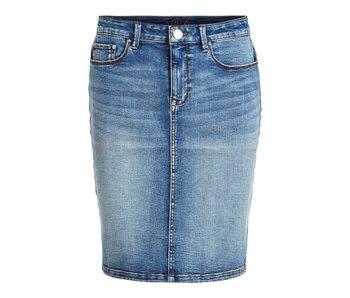 VILA Vicommit felicia short skirt denim - small