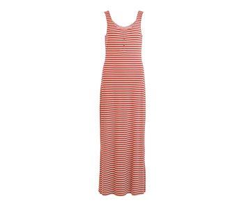 VILA Videll S/L maxi dress - striped cedar - medium