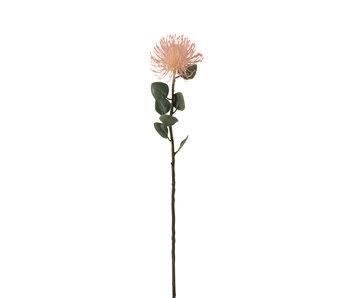 J-Line Fleur Coussin Plastique Rose