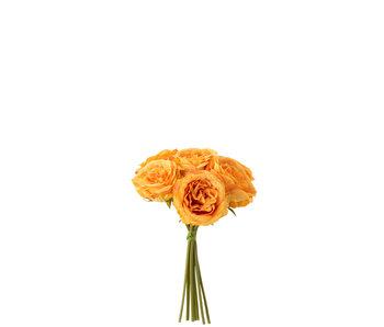 J-Line Boeket Rozen 7stuks Plastiek Oranje