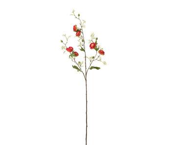 J-Line Pioen Tak 3delig Plastiek Fuchsia