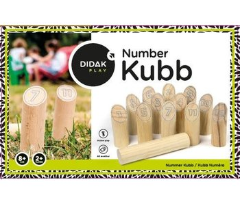 Number Kubb spel - hout