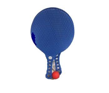 Ballon de plage SET bleu - 2 palettes + ballon