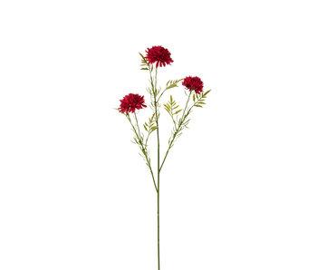 J-Line Boule de fleurs Mum Plastic Fuchsia