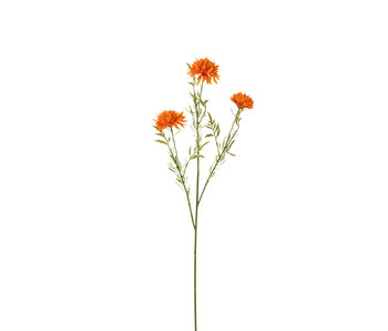 J-Line Bloem Ball Mum Plastiek Oranje
