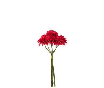 J-Line Bouquet Boule Mum Plastique Fuchsia